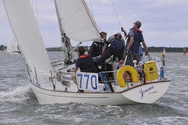 Jemma of Bosham Racing at Cowes